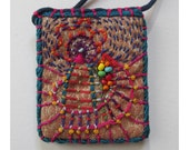 RESERVED FOR RANDYFun Rectangle Colorful Hand Embroidered  Necklace with Beads
