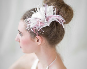 Wedding Hair Accessory, Bridal Fascinator, Wedding Head Piece, Feather Fascinator, Bridal Hair Accessory