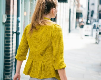 PDF Pattern for Pleated Cardigan - UK and US Terms