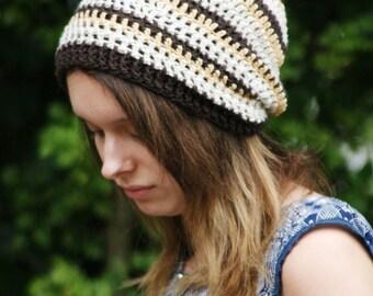 Womens Slouchy beanie, Hippie, Vegan, Slouchy, Unisex Dreads Hat