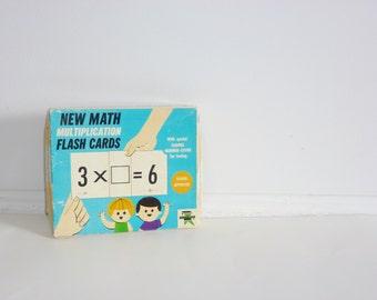 Vintage Multiplication Flash Cards