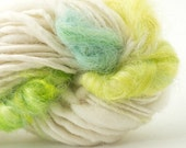 Colibri, Handspun Handpainted Mohair and Organic Merino Yarn, 32yards, art yarn, accent yarn