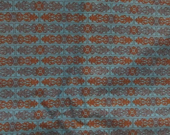 Vintage Fabric 1 3/4 yards x 44 inches Cotton  Print SALE