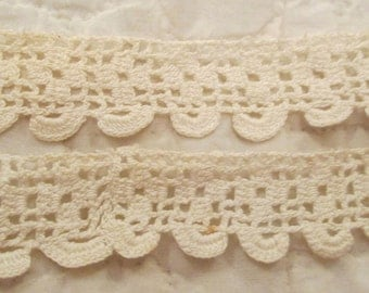 "Antique Crocheted Lace 63"" x 5/8"