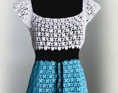 Crochet pattern .  Blouse . Dress. No 241