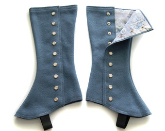 SUPER SALE! Tall Slate Spats - Size Extra Small