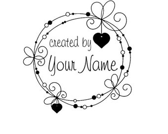 Handle Mounted Personalized Name custom made rubber stamps C113