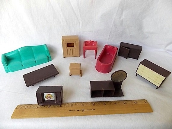 Reserved For Willow Vintage Plastic Doll House Furniture
