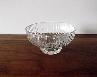 "Vintage Rosenthal Studio-Linie ""Structure"" Footed Bowl Vase, Clear, Ice Glass"