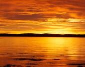 Acadia Sunrise - Bar Harbor, Maine  - Panoramic Wall Canvas - Fine Art Photography - Wall Art