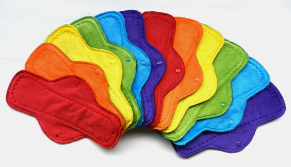 Rainbow PostPartum Stash<p>Set of 6 Heavy, 6 PostPartum Pads