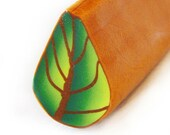 Polymer Clay  Green Leaf Cane by Dicope