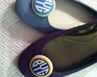 Monogrammed Shoe Clips -- Women Girls Little Girls