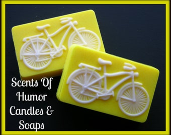BICYCLE SOAP - Livin' & Loving Life On My Bike - Lemon Scent - Unique Gift Packaged Soap - Exercise - Marathon - Athlete - Sports - Handmade