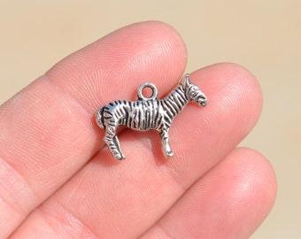 1 Silver Zebra Charm SC1327