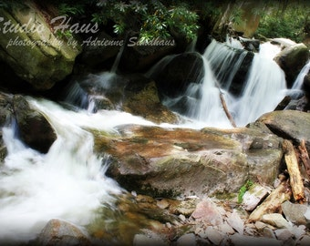 Small Falls - 8x10 - Nature, Landscape, Green, Waterfall, Serenity - Fine Art Photography Print