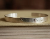 Sterling Silver Cuff Bracelet with rivets- Custom Order