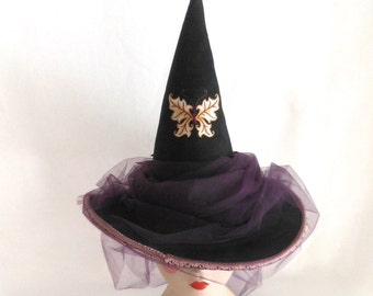 Autumn Butterfly Couture Witch Hat