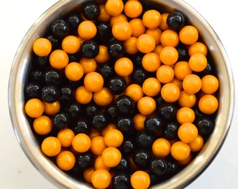 Gold and Black  Pearl Candy Beads- Edible Cupcake Decorations (2 ounces)