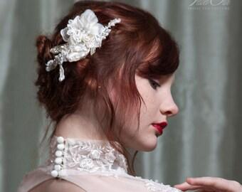 wedding hair accessories, wedding hair piece, wedding hair comb, wedding hair flower, bridal clip, wedding fascinator, wedding hairpiece,