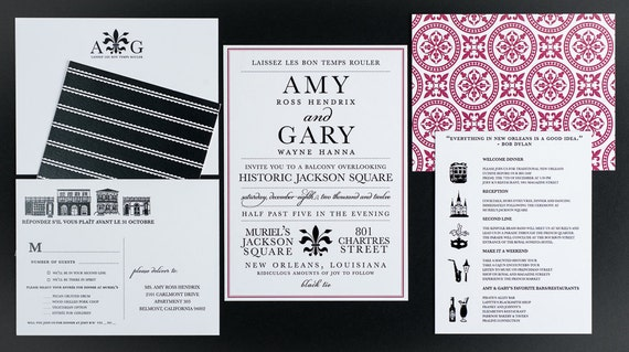 Wedding Invitations New Orleans: Wedding Invitation Destination New Orleans Wedding Collection