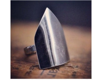 Cathedral ring, no. 1…sterling silver finger armour, everyday ring