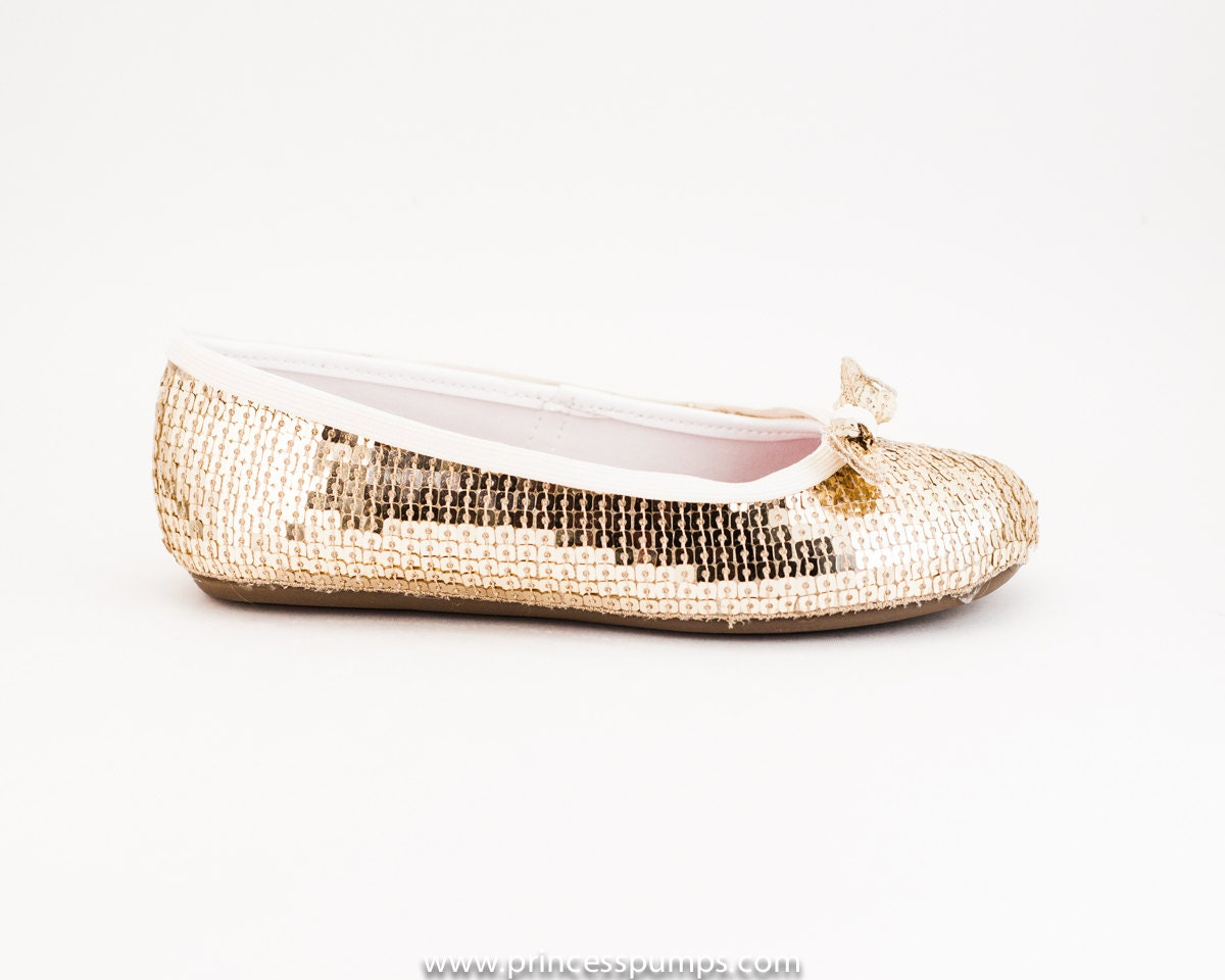 chaign gold sequin flat dress shoes with by princesspumps