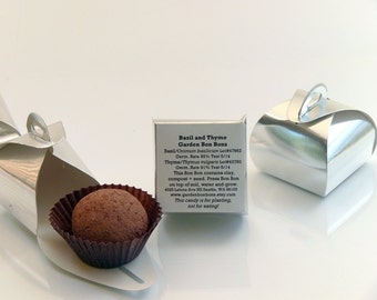 Wedding favor table seed bomb gifts - Custom Single Garden Bon Bons