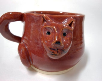 Kitty Face Mug Stoneware-16 oz mug