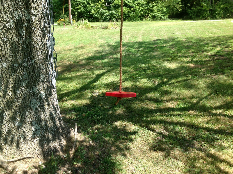 childs single rope tree swing children adult by quarrydesigns. Black Bedroom Furniture Sets. Home Design Ideas