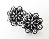 TierraCast Flower Button Antiqued Silver Ox Czech Rosette Metal Finding 12mm but0262 (2)