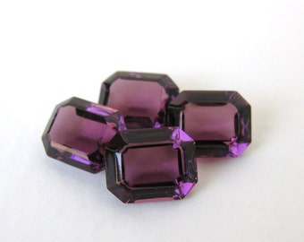 Swarovski Crystal Vintage Rhinestone Amethyst Octagon Jewel 10x8mm swa0528 (4)