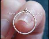 Silver Nose Hoop/ Sterling Nose Ring / Tarnish Resistant Argentium / Dainty Nose Ring/ 24G Nose Ring/ 22G Nose Ring/20G Nose Ring- CUSTOMIZE