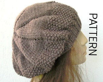 Knitting Pattern Hat Beret : Popular items for beret women on Etsy
