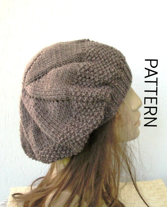 Digital Knitting Patterns : Knitting pattern hat Hat Digital Knitting PATTERN PDF