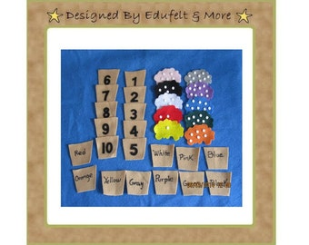 NEW - Counting and Color Recognition - Felt Set - Teacher Resources