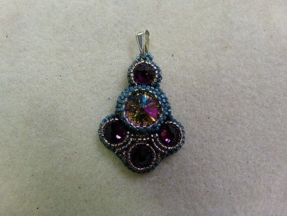 Bollywood bead embroidery pendant pdf tutorial instant