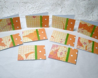 Set of 10 Mini  Note Cards #7376