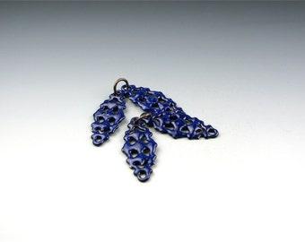 Enameled Victorian Filigree / Cobalt Blue Enamel / Made to order