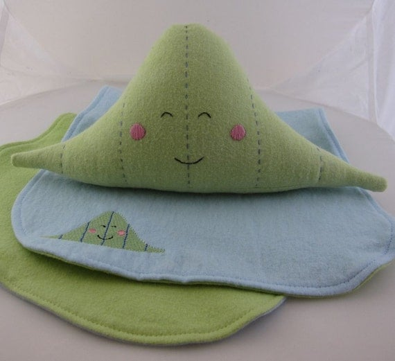 Distribution Plushie and Burp Cloth Set
