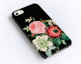iPhone 6 Case Floral iPhone 5S Case, Floral , Floral iPhone 6S, Phone Cover, Vintage Bouquet iPhone 6 Plus Case