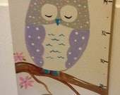 Childrens Canvas Growth Chart Hand Painted