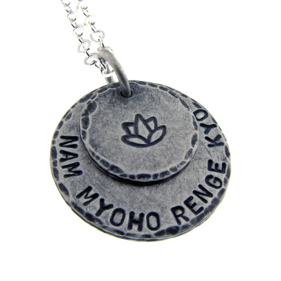 Layered Charm Necklace Sterling Silver Round Pendants Personalized Custom Engraved Artisan Handmade Fine Designer Fashion Yoga Jewelry