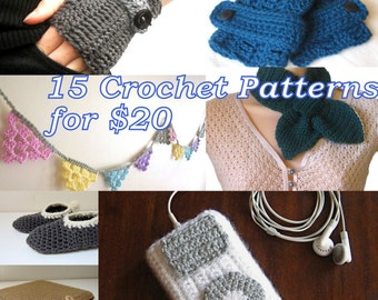 15 Crochet Patterns - Choose your own - Permission to sell items made from all patterns