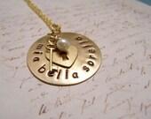 Italian Necklace. Mia Bella Sorella. My Beautiful Sister. Key to My Heart. Love. Friendship. Sisterhood