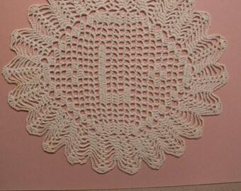 "Custom Handmade Crocheted Initial Doily  ""L"""