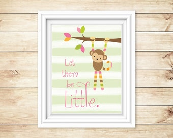 Printable Art, Instant Download, Wall Art, print at home, little monkey