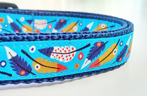 Boho Bow Wow - Dog Collar / Handmade / Pet Accessories / Adjustable / Feathers