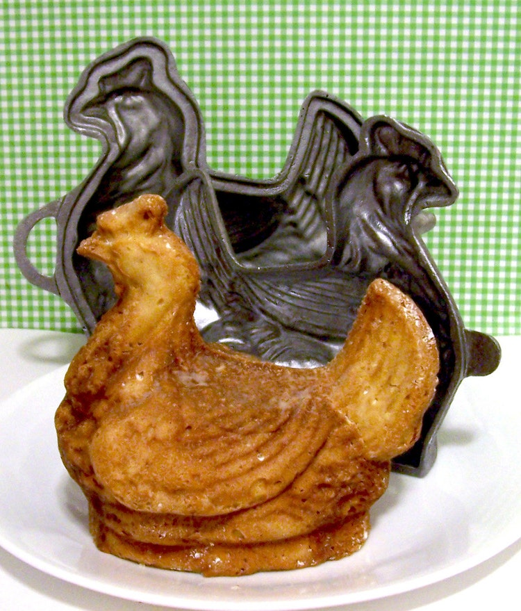 Chicken 3d Cake Mold Retro By Luluscupcakeboutique On Etsy