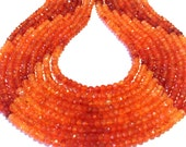 """Carnelian shaded faceted teeny tiny 2mm rondelles premium quality stones full 14"""" stand."""